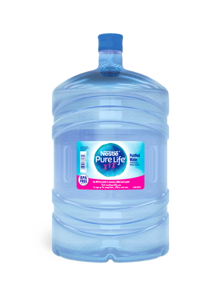 5 gallon jug of nestle pure life purified water for water coolers and dispensers