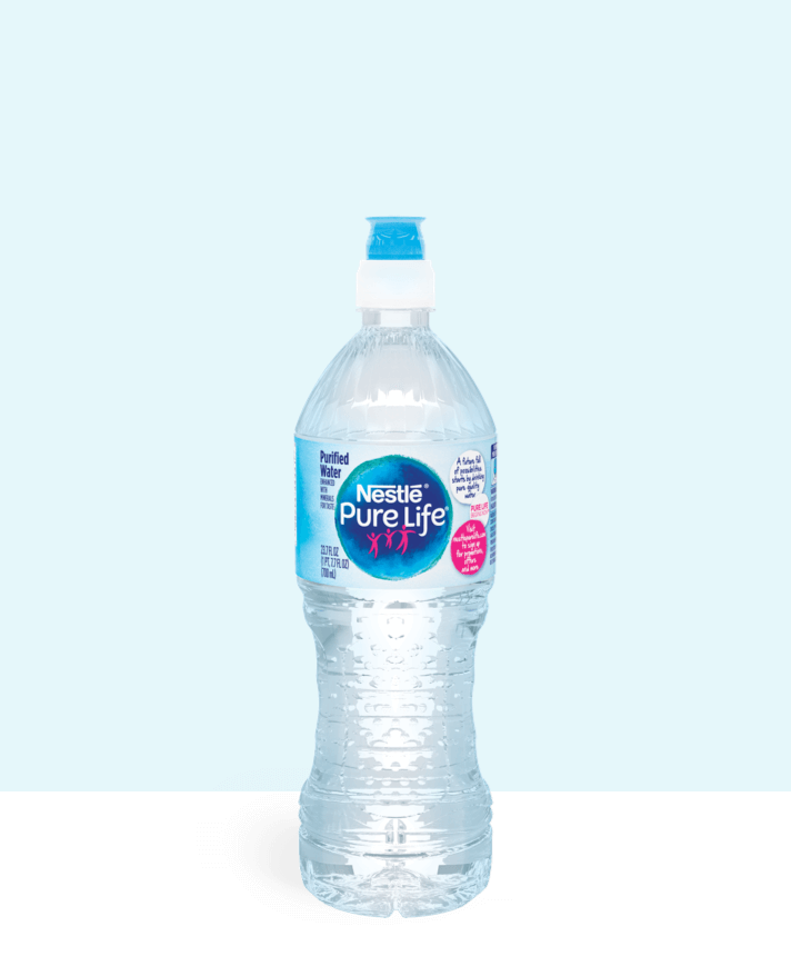 23.7 oz sport top bottle of nestle pure life purified water
