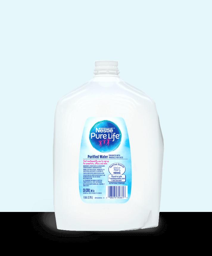 1 gallon jug of nestle pure life purified water