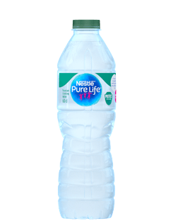 A bottle of Nestle Pure Life Premium drinking water