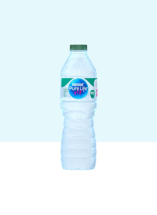 A pack of Nestle Pure Life drinking water