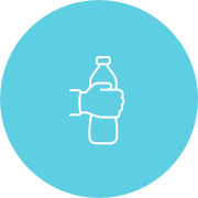 Drinking water bottle icon
